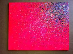 35 Dollars Paint Splatter Canvas From Etsy -  This Would Be Easy And Cheaper To Make Yourself! And Fun!