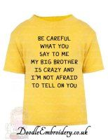Be careful what you say to me - My Big Brother is crazy and I'm not afraid to tell on you