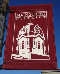 Searcy Main Street District Banner (Searcy, Arkansas) by courthouselover, via Flickr