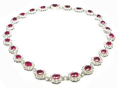 18ct White Gold Diamond Burmese ruby necklace. Estimated weight Diamonds 28cts, Rubies 28ct  http://www.luciecampbell.com/necklaces/All/1058--1/  £ContactUs  richard@luciecampbell.com  Lucie Campbell Jewellers Bond Street London  http://www.luciecampbell.com