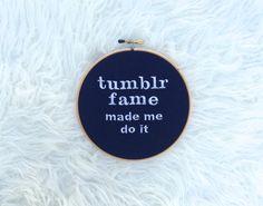 "Hoop Art - ""Tumblr Fame made me do it"""