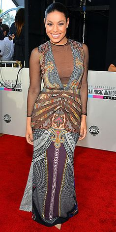 See all the best fashion from the American Music Awards! Here's Jordin Sparks in #Etro! #fashion #celebs #singers #artists #musicians