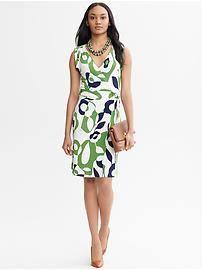 Printed Wrap Dress--Banana Republic