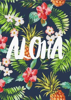 Tropical print wallpaper flower wallpaper best tropical prints images on wallpapers wallpaper aloha typography print motivational . Aloha Hawaii, Hawaii Vacation, Hawaii Travel, Hawaii Pics, Tropical Vibes, Tropical Prints, Tropical Colors, Typography Prints, Grafik Design