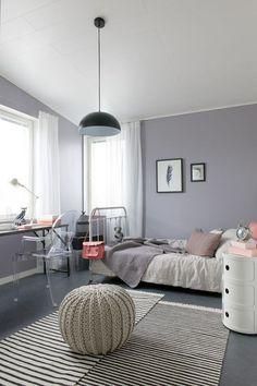 Серый интерьер детской в скандинавском стиле.  (детская,игровая,детская комната,детская спальня,дизайн детской,интерьер детской,интерьер,дизайн интерьера,мебель,скандинавский) .