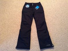 COLUMBIA Women s Omni Heat Ski/Snow Pant Small/Black New with Tags