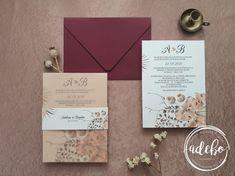 Invitatie nunta Dried Poppy