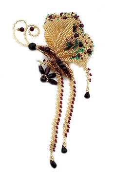 Wonderful Beadwork by Marina Nosova featured EyeCandy in Bead Patterns.com Newsletter. Check it out for more EyeCandy and for featured FREE beading patterns/tutorials!