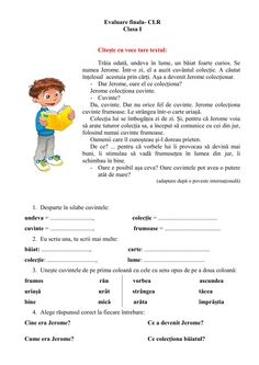 Evaluarea cunostintelor interactive and downloadable worksheet. You can do the exercises online or download the worksheet as pdf. Romanian Language, School Subjects, School Lessons, Your Teacher, Google Classroom, Grade 1, You Can Do, Worksheets, Parenting