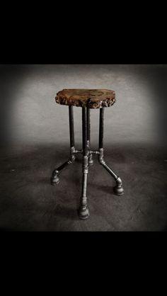 Cross-bar Pub Stool #liveedge #fallentrees #nyc  #woodlove #design #furniture…
