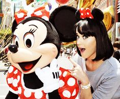 Kathryn Hudson  / Katy Perry with Minnie Mouse