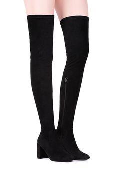 Jeffrey Campbell Shoes CIENEGA Kneezus in Black