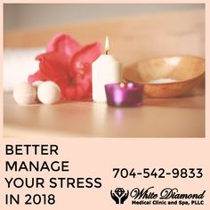 Manage your stress better in 2018 by taking advantage of some of the stress management services provided by White Diamond Medical Clinic & Spa. We provide massage, yoga, and other therapeutic services. Visit our site to see a full list of the stress management services we provide and then give us a call to schedule your appointment!