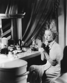 Miriam Hopkins at her dressing table, 1934, photo by George Hurrell