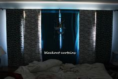 make your own blackout curtains.