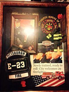 Firefighter shadow box