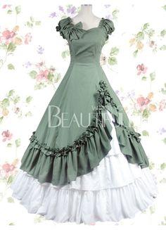 robe longue bicolor