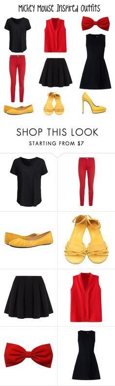 """""""Mickey Mouse Inspired Outfits"""" by aechau ❤ liked on Polyvore featuring New Look, Love Moschino, Nine West, Tod's, Polo Ralph Lauren, RED Valentino and Yves Saint Laurent"""