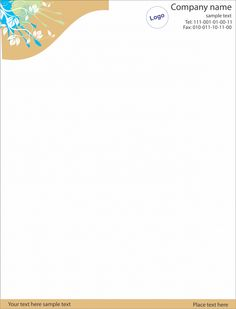 Classy letterhead template