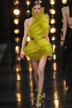 Lindsey Wixson at Alexandre Vauthier Couture Spring 2014