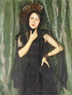 EDUARDO CHICHARRO MADRID 1873-1949. Retrato. 1938