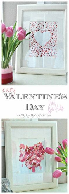Quick & Easy Valentine's Day Crafts for Toddlers | DIY Valentine's Day Artwork | http://missfrugalfancypants.com