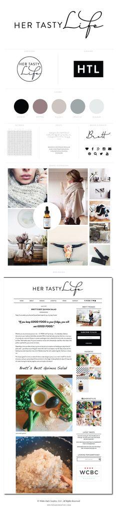 branding and blog design for lifestyle and food blog - logo design wordpress theme mood board inspiration blog design idea graphic design branding