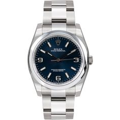 Rolex Watch New Style Oyster Perpetual Blue Dial 116000