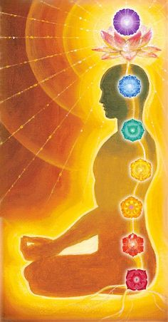 du tableau méditation Kundalini Shakti power rising through the chakras