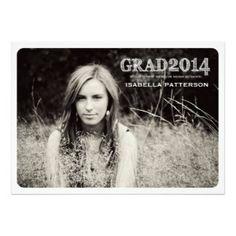 2014 graduation annoucements | 2014 Grad Modern Photo Graduation Party Invitation