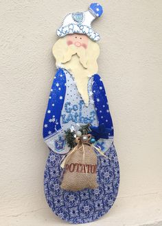 JUDAICA CHANUKAH HARRY Hanukah Wall hanging Mantle by PoZiDesigns