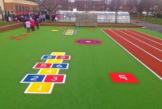 EPIC playground surface for outdoor learning - an outdoor classroom for primary schools