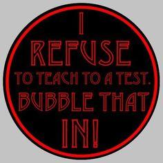 Teach to a test