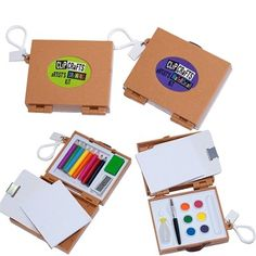 Keychain Art Kits....I am so getting this!! Art on the go.