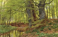 paintingbox:  Peder MørkMønsted (1859 — 1941). In the Woods, 1891. Oil on canvas. Danish