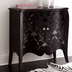 Black on Black Damask Chest www.horchow.com