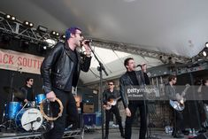 Dr. Pepper's Jaded Hearts Club Band featuring drummer Sean Payne (L), bassist Matt Bellamy of Muse (C) and vocalist Miles Kane (2nd from R) perform live on stage at Rachael Ray's Feedback Party during SXSW on March 17, 2018 in Austin, Texas.  (Photo by Jim Bennett/WireImage)