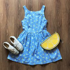 Little Yellow Flower Cute Retro Sundress – The Other Sparrows Casual Dresses, Summer Dresses, Sparrows, Yellow Flowers, Chiffon, Comfy, Retro, Fabric
