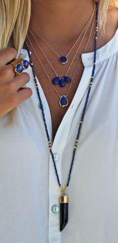 lapis lazuli + gold