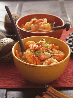 Cari de crevettes. Plus de recettes de fruits de mer sur www.enviedebienmanger.fr