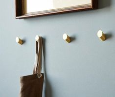 Description Nordic Brass Wall Hook Decorative Hook Towel Hook Modern Simple Coat Hooks Chic Hook ****** The price is for one piece. Material: Brass Color : Brass Measurements: Dia : Length: Protrusion after installation: