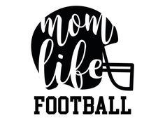 Mom life football vinyl decal-sticker by TaylorMadeTreasureUS on Etsy Silhouette Cameo Projects, Silhouette Design, Football Mom Shirts, Football Stuff, Football Mom Quotes, Football Girlfriend, Chiefs Football, Football Football, Football Design