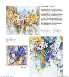 Harmonious colors. Watercolour Tutorials, Watercolour Painting, Shirley Trevena, Beautiful Textures, American Artists, Painting Techniques, Contemporary Art, Vibrant, Art Journals