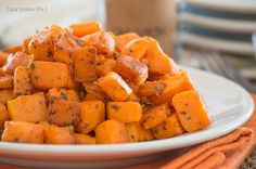 These Skillet Sweet Potatoes are a favorite side dish, we like to make a large batch to keep them on hand for quick side dishes throughout the week.