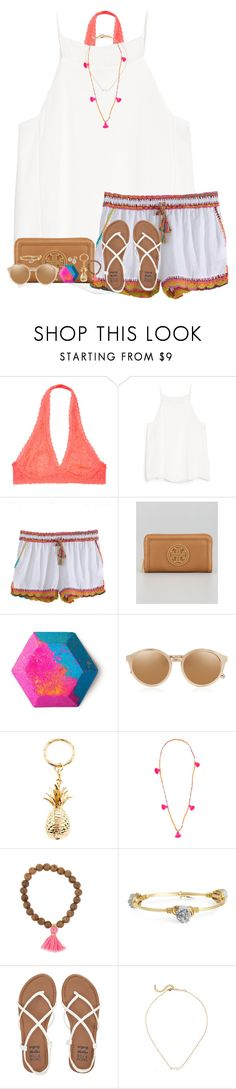 """""""cool for the summer"""" by graciegerhart7 ❤ liked on Polyvore featuring MANGO, Calypso St. Barth, Tory Burch, Linda Farrow, Accessorize, Lead, Bourbon and Boweties, Billabong and Mikimoto"""