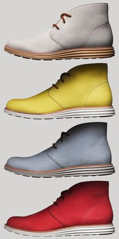 Cole Haan Lunarlon Chukkas. The bottom looks like it has a nice grip perfect for possibly snow days where you have to dress up.
