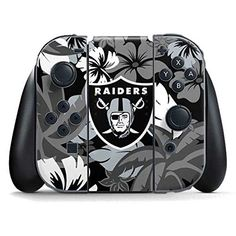 NFL Oakland Raiders Nintendo Switch Joy Con Controller Skin - Oakland Raiders Tropical Print Vinyl Decal Skin For Your Switch Joy Con Controller  https://allstarsportsfan.com/product/nfl-oakland-raiders-nintendo-switch-joy-con-controller-skin-oakland-raiders-tropical-print-vinyl-decal-skin-for-your-switch-joy-con-controller/  Ultra-Thin, Lightweight Nintendo Switch Joy Con Controller Vinyl Decal Protection Offically Licensed NFL Design Industry Leading Vivid Color Vinyl Print