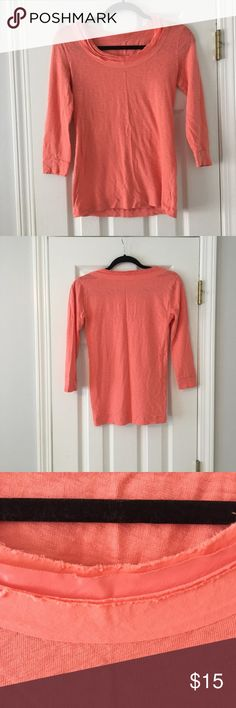 "Peach J. Crew T-Shirt with Ribbon Detail Size S Excellent condition. Peach J. Crew t-shirt with ribbon detail around the neck in size S. Looks great with a pair of jeans and some booties. Great quality and super comfy!  ***FAST SHIPPING   ***Love the item, but don't love the price? Send me an offer! ***10% OFF 2+ ITEMS-- CLICK ""ADD TO BUNDLE""   Want to Bundle? Here are some options! - Navy J. Crew V Neck T-Shirt Size S $10 - h.i.p Floral Sheer Shirt Size S $15 - FREE PEOPLE Orange Tribal…"