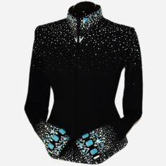 Lisa Nelle Show Clothing — Turquoise Noir Jacket M Rodeo Outfits, Equestrian Outfits, Western Outfits, Chic Outfits, Fashion Outfits, Western Show Shirts, Western Show Clothes, Horse Show Clothes, Special Dresses