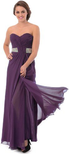 Plus size bridesmaid dresses in eggplant